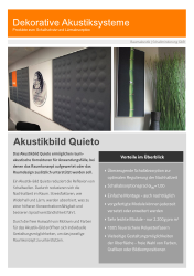 Flyer - Akustikbild Quieto