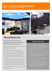 Flyer - Akustikdecke Quieto
