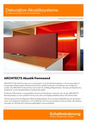 Flyer - ARCHITECTS Akustik-Trennwand für Schreibtisch