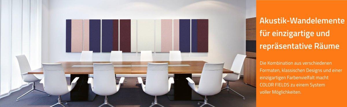 Schallminderung   Akustik-Wandelemente für maßgeschneiderte Raumlösungen im Büro, Konferenzzimmer, Call Center