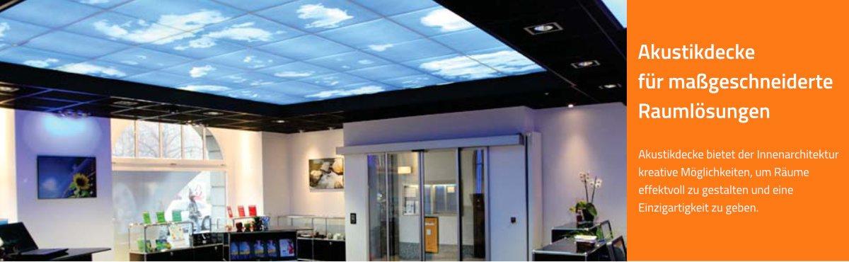 Schallminderung | Akustikdecke für maßgeschneiderte Raumlösungen im Büro, Konferenzzimmer, Call Center