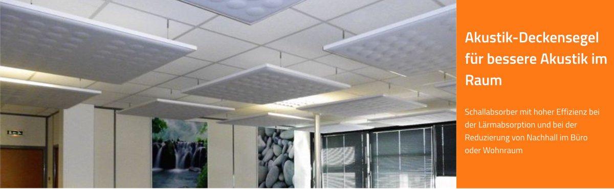 Schallminderung | Akustik-Deckensegel und Akustiksegel im Büro, Konferenzzimmer, Call Center