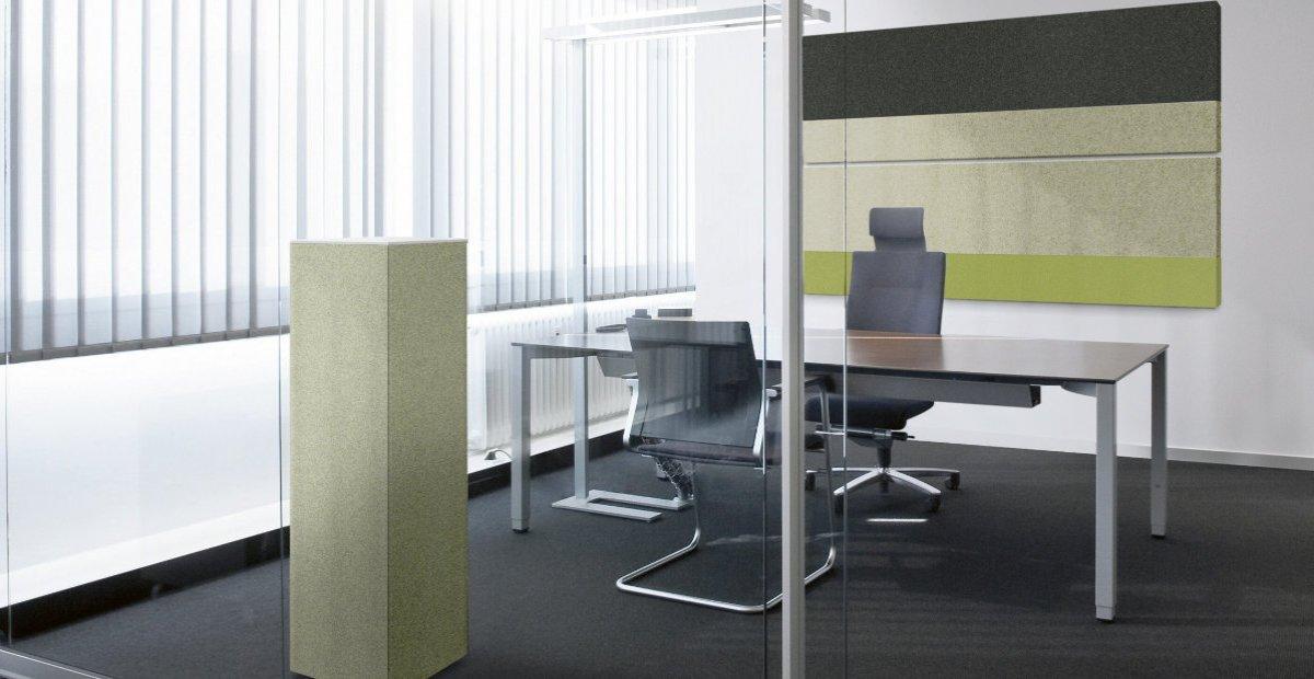 Phoneon Sound Butler im Vorstandsbüro, Konferenzzimmer, Beratungsraum für bessere Raumakustik